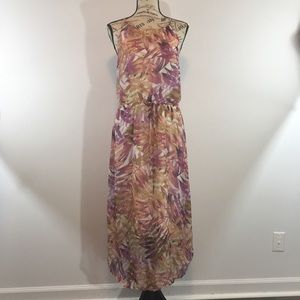 SMALL Lucky Brand Floral Midi Dress